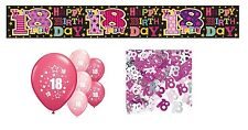 18th BIRTHDAY PARTY PACK DECORATIONS BANNER BALLOONS (SE.P.3)