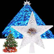 Colorful Changing Xmas Christmas Tree Topper Star Light LED Lamp Decorations MT