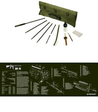 AR-15 OD Green Tek Mat Bench Mat  & Complete UTG Rifle Cleaning Kit Combo Set