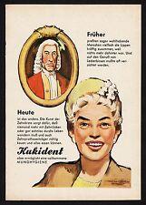 3w784/ Alte Reklame - von 1961 - KUKIDENT