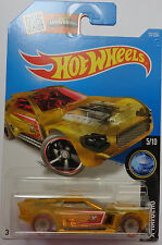 2016 Hot Wheels X-RAYCERS 5/10 Bullet Proof 15/250 (Clear Yellow)(Int. Card)