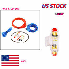 8GA Car Audio Subwoofer Sub Amplifier AMP Wiring Kit Power Cable NEW US STOCK EM