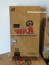 "FULL BOX of ""WAR on Hate"" 1 1/4 Rolling papers by RAW 24 PKS Limited Collectible"