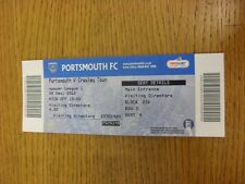 26/12/2012 Ticket: Portsmouth v Crawley Town  . Thanks for viewing this item, we