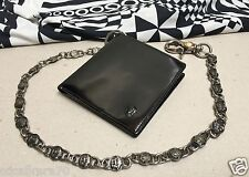 vintage GIANNI VERSACE 1994 black patent leather wallet with chain