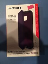Lot Of 30Pc Tech21 Evo Wallet flip cover case for Samsung Galaxy S6 Edge Purple
