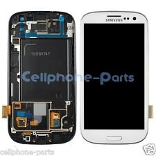 Samsung Galaxy S3 i747 AT&T, T999 LCD Screen Digitizer Touch & Bezel Frame White
