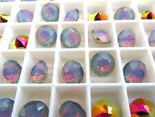 12 White Opal Volcano Swarovski Crystal Chaton Stone 1088 39ss 8mm