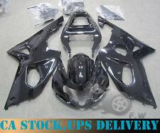 Glossy Black Painted ABS Fairing kit Bodywork For SUZUKI GSXR 1000 2001 2002 K1