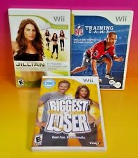 NFL Training, Biggest Loser, Jillian Fitness 2009 - Nintendo Wii / Wii U 3 Games