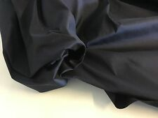 "NEW Dark Navy Colour 100% Silk Dupion Fabric 54"" 137cm For 0.5 1/5 Metre Dress"