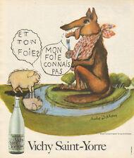 Publicité Advertising 1974  VICHY SAINT YORRE eau minérale naturelle gazeuse ..