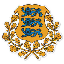 "ESTONIA Coat of Arms car bumper sticker decal 4"" x 4"""
