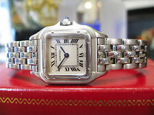 Ladies CARTIER PANTHER Panthere Stainless Steel Roman Numeral Watch