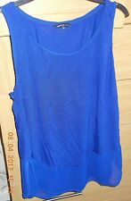 Limited Edition by Marks and Spencer Blue Vest Top Size 18 Euro 46