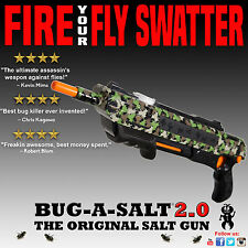 Authentic BUG-A-SALT CAMOFLY 2.0 Gun Fly Swatter Insect Home Garden Pest Control