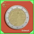 """2 Euro € Gedenkmünze Coin Coins Italien 2015 """"750.Geburtstag Dante"""" bankfr."""
