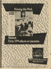 28/5/83PN22 ADVERT: KISSING THE PINK ALBUM NAKED 0NLY AT HMV 15X11