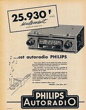 PUBLICITE ADVERTISING 015 1958 PHILIPS autoradio
