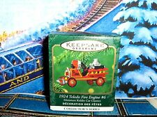 Toledo Fire Truck`2001`Miniature.7Th In Series`Hallmark Christmas Ornament-New