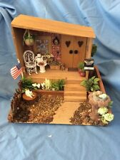 Dollhouse Miniature Room Box  Diorama, Country Front Porch Made In USA,