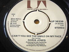 "DORIS JONES - CAN'T YOU SEE THE SMILE ON MY FACE       7"" VINYL"