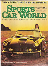 Sports Car World 1967 Oct Falcon GT Mustang Maserati 300s Ferrari Honda S800