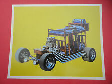 Rare Vintage Bunk Bed California Show Car Photo Handout Card Hot Rod Custom