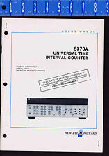 HP -5370A Universal Time Interval Counter USERS MANUAL