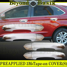 2015 2016 2017 FORD EDGE Triple Chrome ABS Door Handle COVERS Trim W/O Smart Key