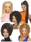 Ladies 90s Baby Posh Ginger Sporty Spice Pop Star Fancy Dress Wig Accessory
