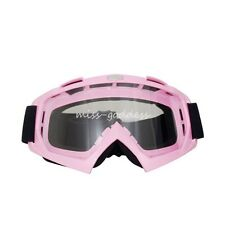 Pink Color Woman Goggles Motorcycle Motocross Racing ATV MX Glasses Anti-UV