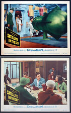 SATELLITE IN THE SKY SCI-FI 1956 TWO LOBBY CARDS