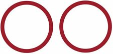A nice decal of two rings sized 3.5 in diameter 1/4 in ring width.