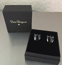 MOET CHANDON DOM PERIGNON CHAMPAGNE ULTRA STYLISH BLACK SHIELD CUFFLINKS BNIB