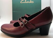 New Clarks Bendables Dream Honor Burgundy Mary Jane Shoes Ladies Shoes 7.5 M