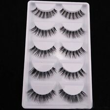 5 Pairs Natural Handmade Sparse Eye Lash Extension Soft Makeup False Eyelashes