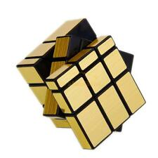 Shengshou Mirror 3x3x3 Golden Cube Speed Twist Magic Bump Puzzle Smooth Cube Toy