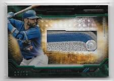 2015 TOPPS STRATA - GREEN - JERSEY PATCH RELIC - JOSE BAUTISTA /75
