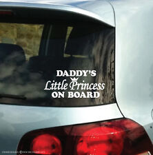 Daddy's Little Princess On Board Vinyl Bumper Car Decal Sticker ST1135