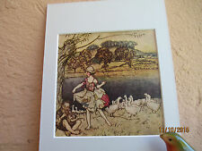 vintage illustration of an English fairy tale by Arthur Rackham 1924