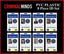 CRIMINAL MINDS 8 Piece ID Badge / Card Set - High Quality PVC Plastic ID Badges
