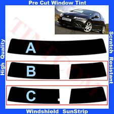 Pre Cut Window Tint Sunstrip for Honda Civic 3D Hatchback 2007-2011 Any Shade