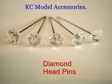 Broches strass clair diamonte diamant forme 6mm tête PINS 50pins.