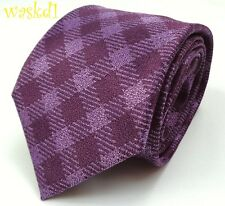 TOM FORD rich Violet & Plum Diagonal PLAID silk jacquard MENS tie NWT Authentic!