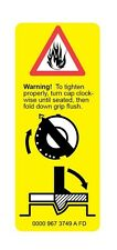 STIHL Yellow Warning Label Pictogram Sticker Safety Images Fits Many Saws Vert.