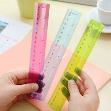 20cm 1x Flexible Ruler Rule Measuring Stationery For School Student Random Tool