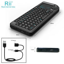 Rii tek X1 Mini 2.4G Black Wireless Keyboard with Mouse Touchpad Remote Control