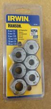 IRWIN 6-Piece Metric Tap and Die Set Steel Tool Repair Thread self-alinging