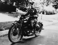 "State Police Officer 1935 Indian Scout Motorcycle 8""x 10"" Photo 51"